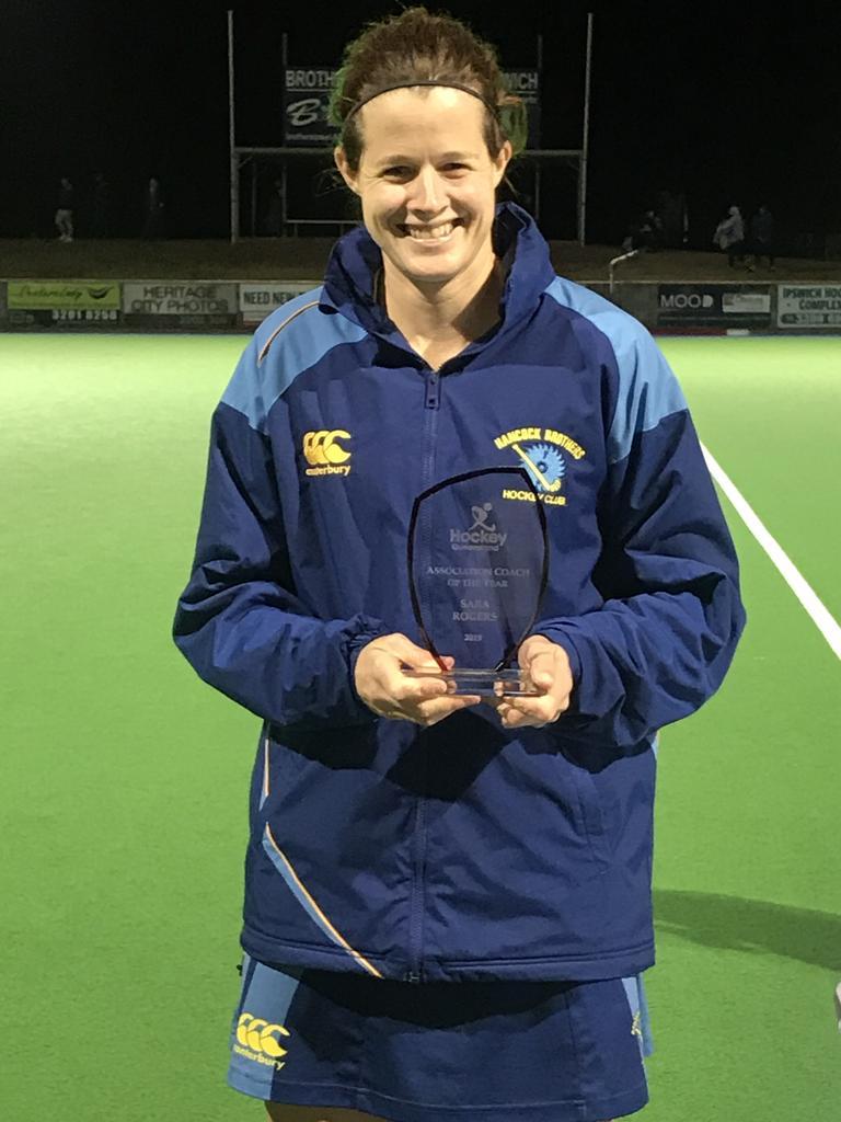 Hockey Queensland Association Coach of the Year Sara Rogers.