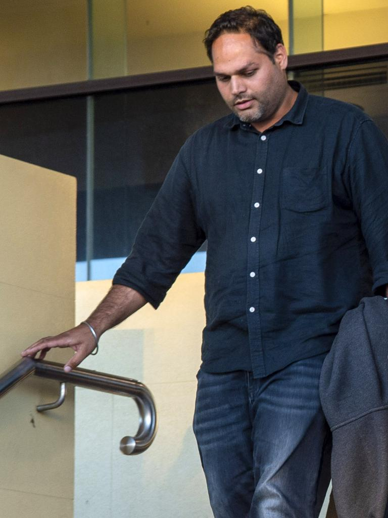 Taxi Driver Jaspreet Pandher leaves court after giving evidence during the Shandee Blackburn inquest.