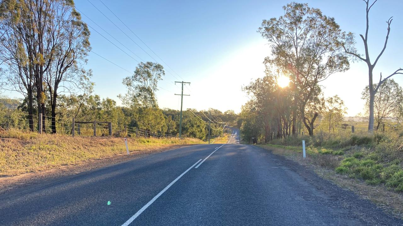 Grantham Scrub Road, from Janine Green's driveway.