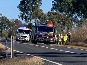 Person in hospital after Burnett Hwy rollover