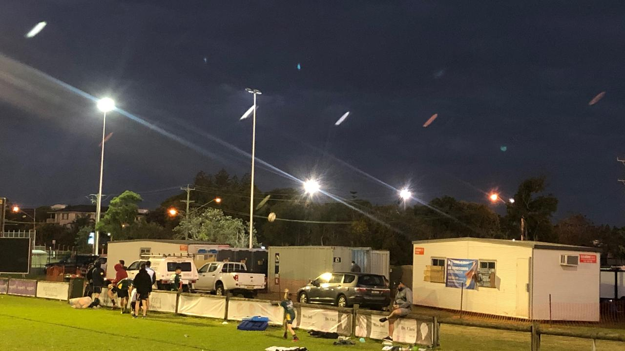 Cudgen Junior Rugby League Club's temporary facilities after the main building burnt down earlier this year.