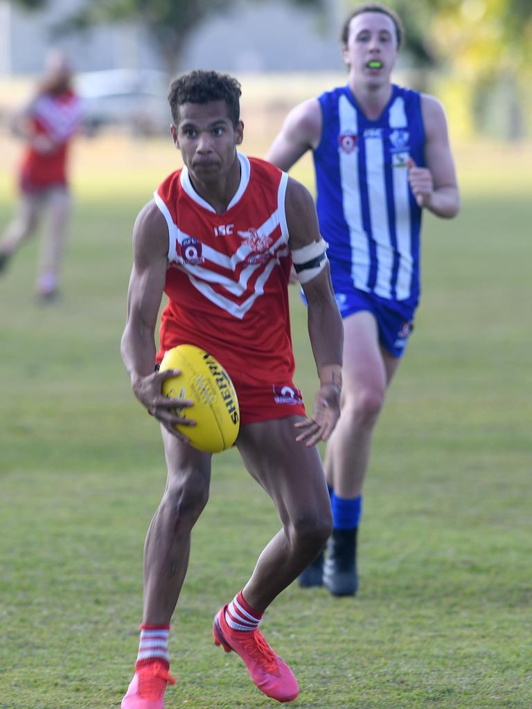 Matt Hill is a member of the Yeppoon Swans champion AFL team. Photo: Jann Houley