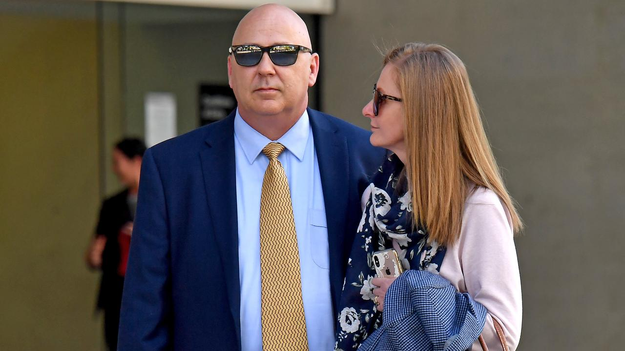 Police sergeant Jason Scott Renwick leaves Brisbane Supreme court last week. Picture: John Gass/NCA NewsWire