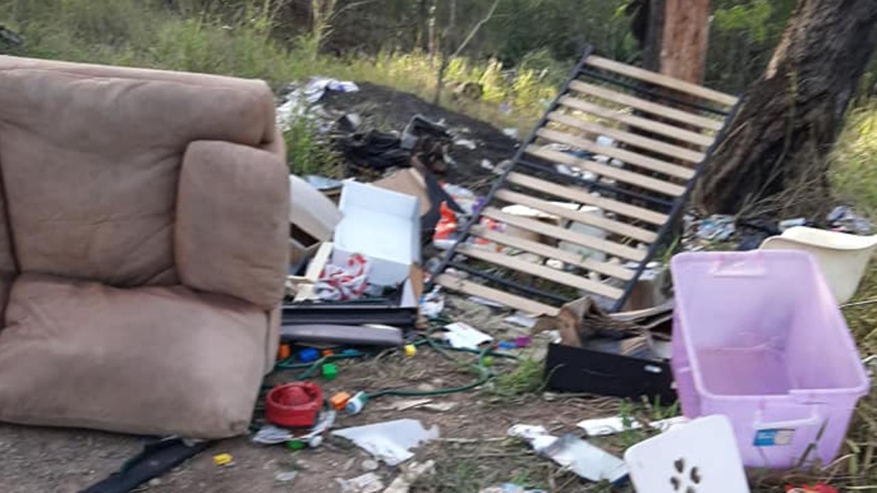 Illegal dumping at Bundamba.