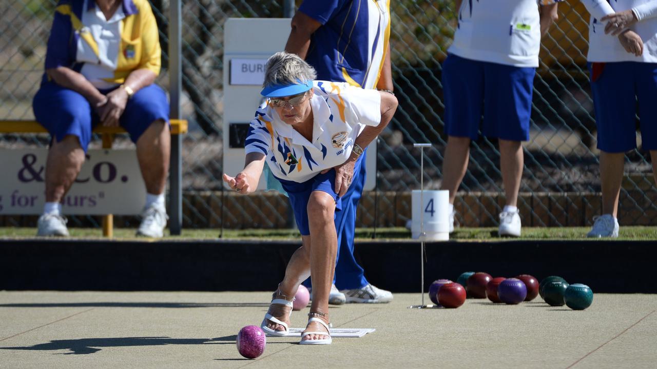 FLASHBACK: Sandy Loydell at the Burnett Bowls Club. Photo: Mike Knott