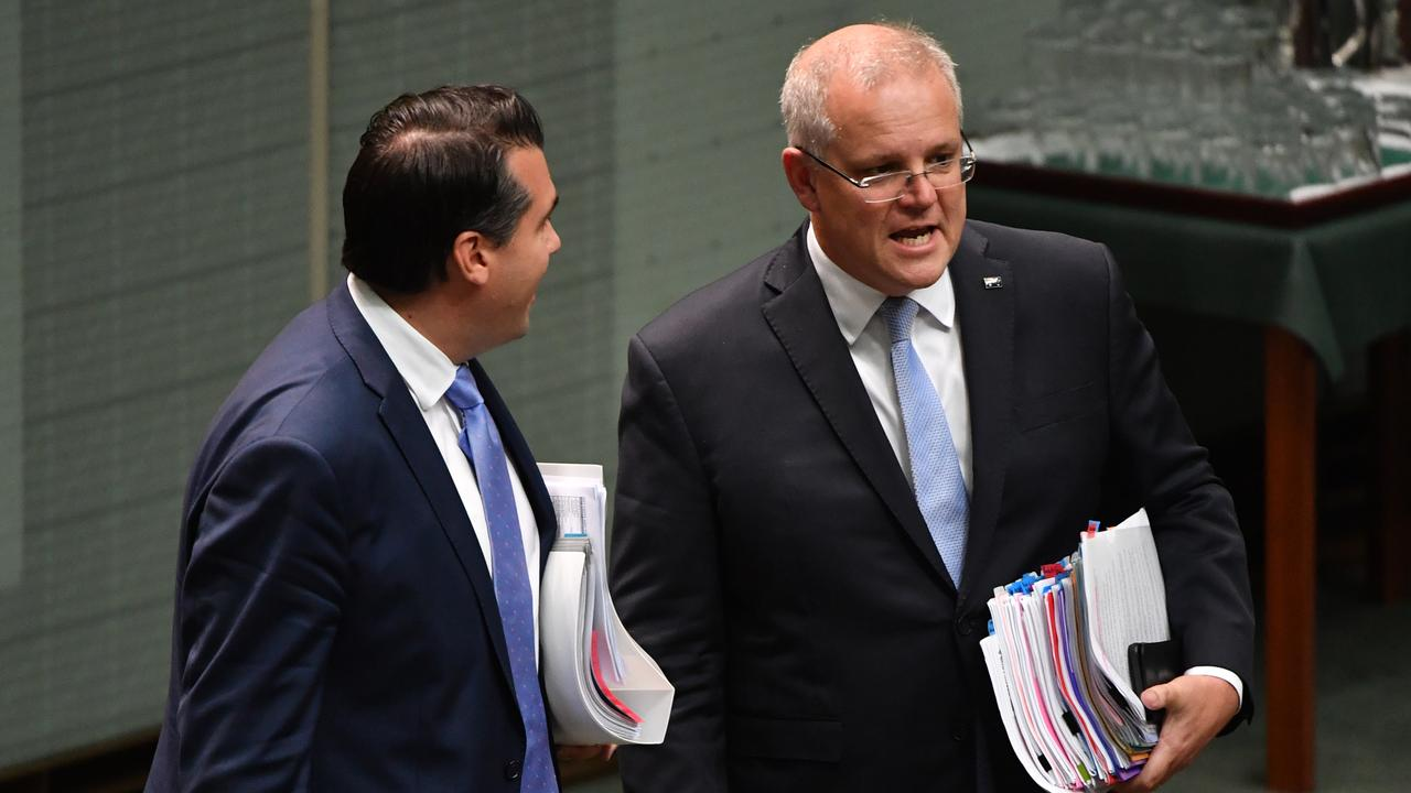 The Prime Minister has now found himself embroiled in the branch stacking saga as Liberal frontbencher Assistant Treasurer Michael Sukkar has been accused in the 60 Minutes investigation. Picture: Mick Tsikas/AAP