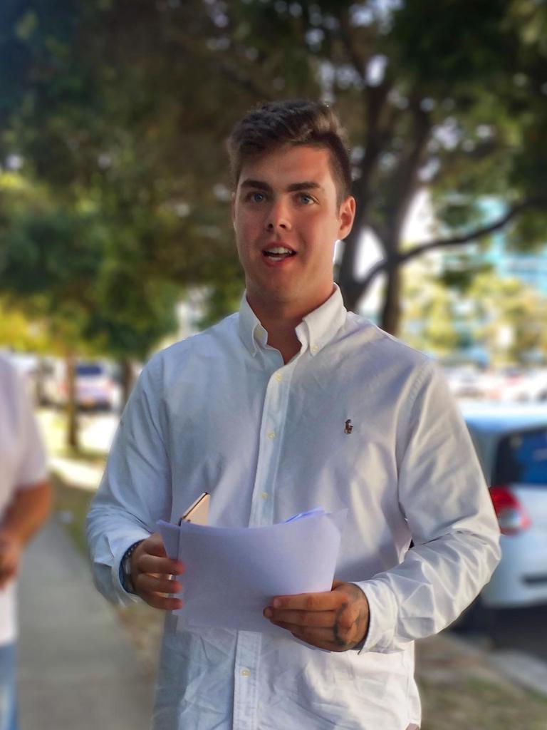 Lucas Seth Jolly leaves court.