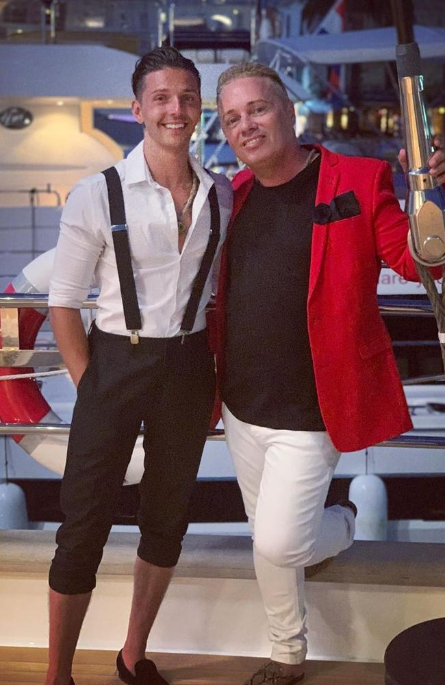 On of the UK's 'first gay dads', Barrie Drewitt-Barlow, has got engaged to his daughter's ex boyfriend while on family holiday. Picture: Instagram / Don Barrie