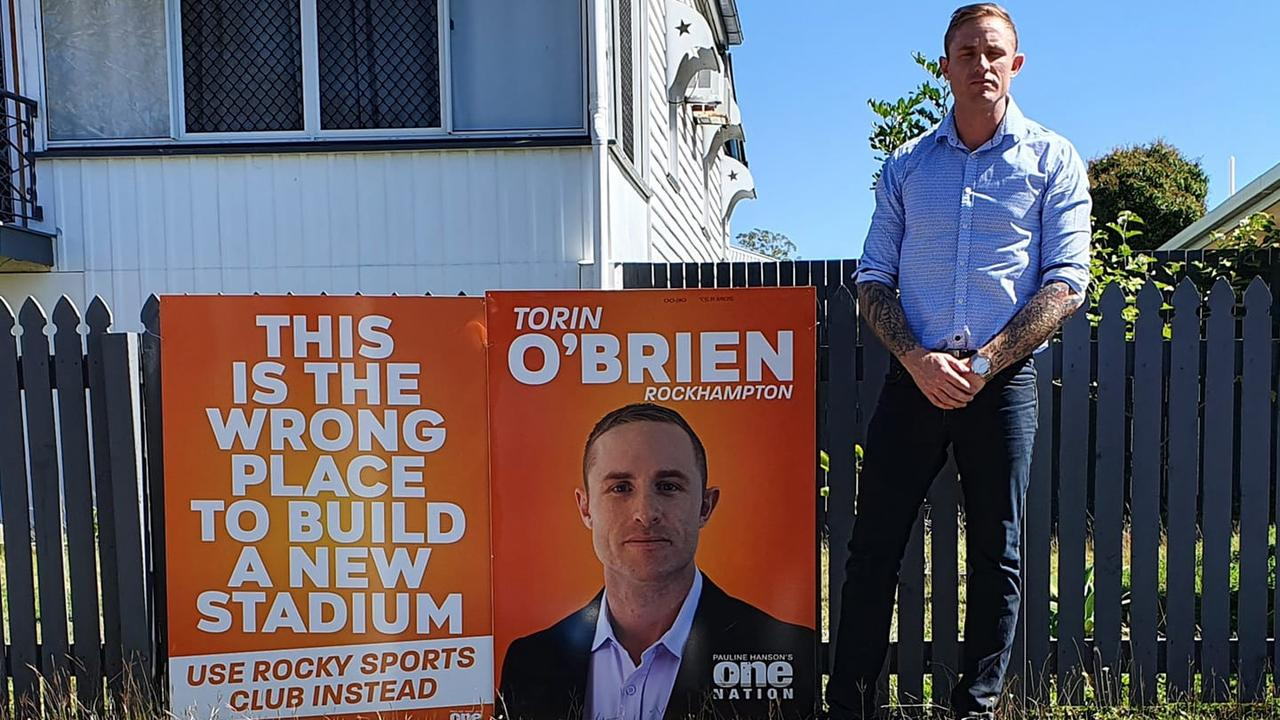 STADIUM OPPOSITION: One Nation candidate for Rockhampton Torin O'Brien believes that the majority of residents surrounding Browne Park are opposed to the stadium upgrade.