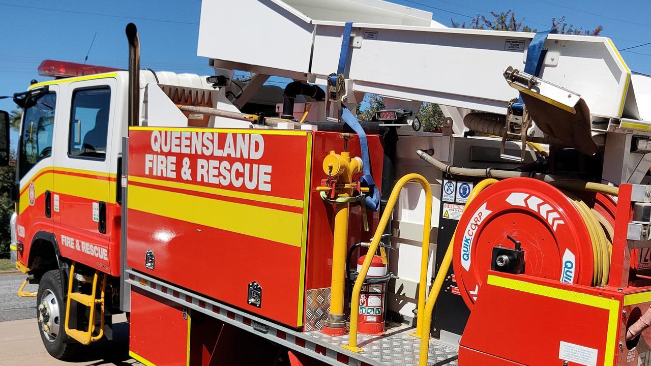 Multiple QFES crews are on the scene of a vegetation fire near Bundaberg. Picture Rodney Stevens