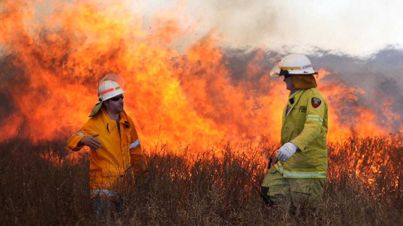 Multiple crews are on the scene of a fire west of GYmpie.Photo Allan Reinikka / The Morning Bulletin ROK100811afire4