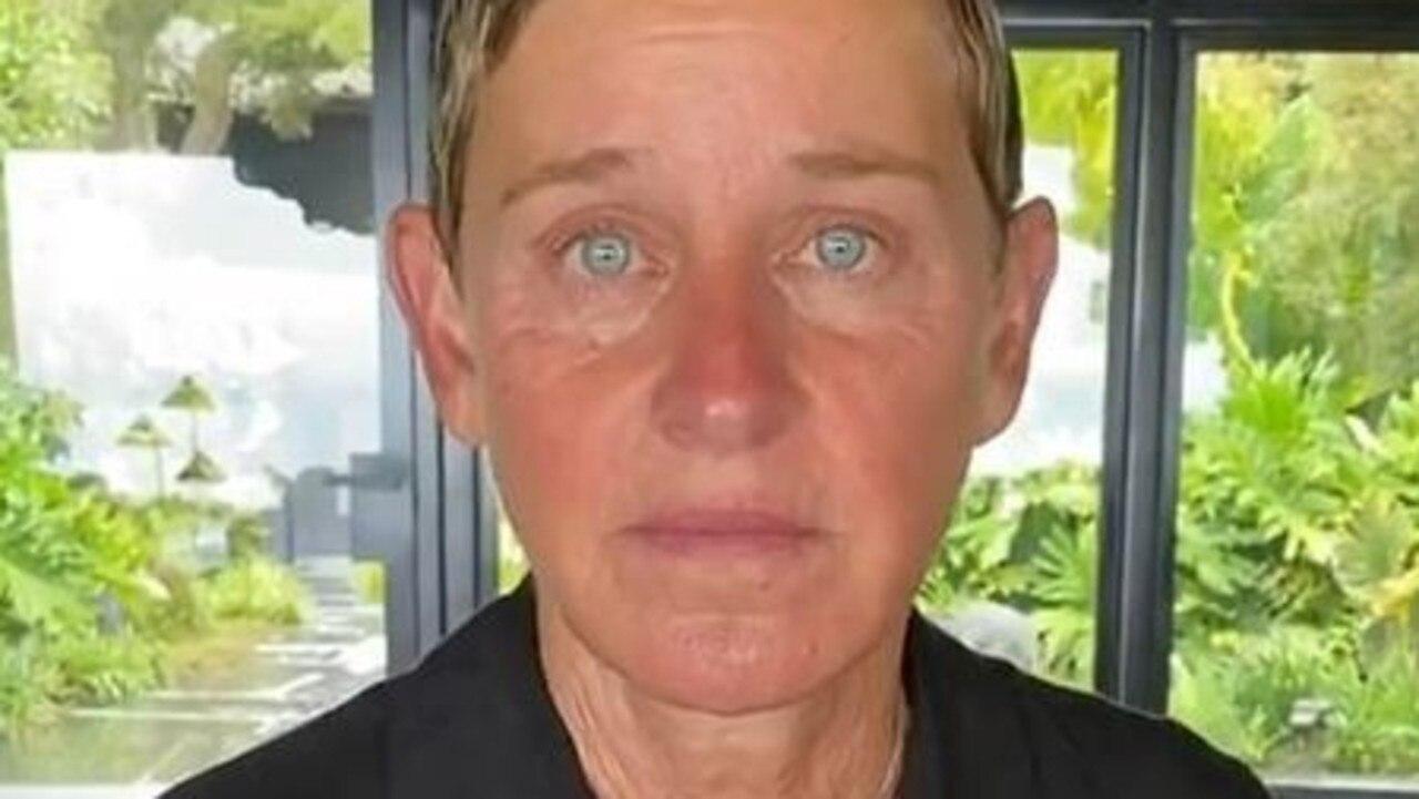 An emotional Ellen DeGeneres. Picture: Instagram