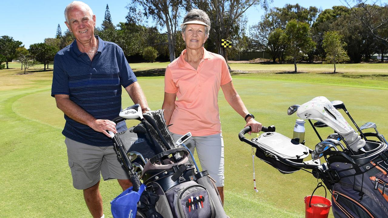 Steve and Cheryl Shaw at Bargara Golf Club. Photo: File