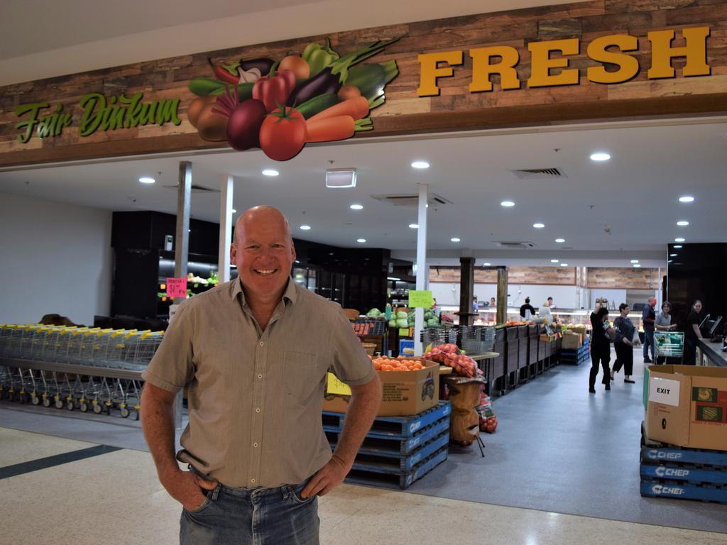 Jason O'Loughlin at the new store.