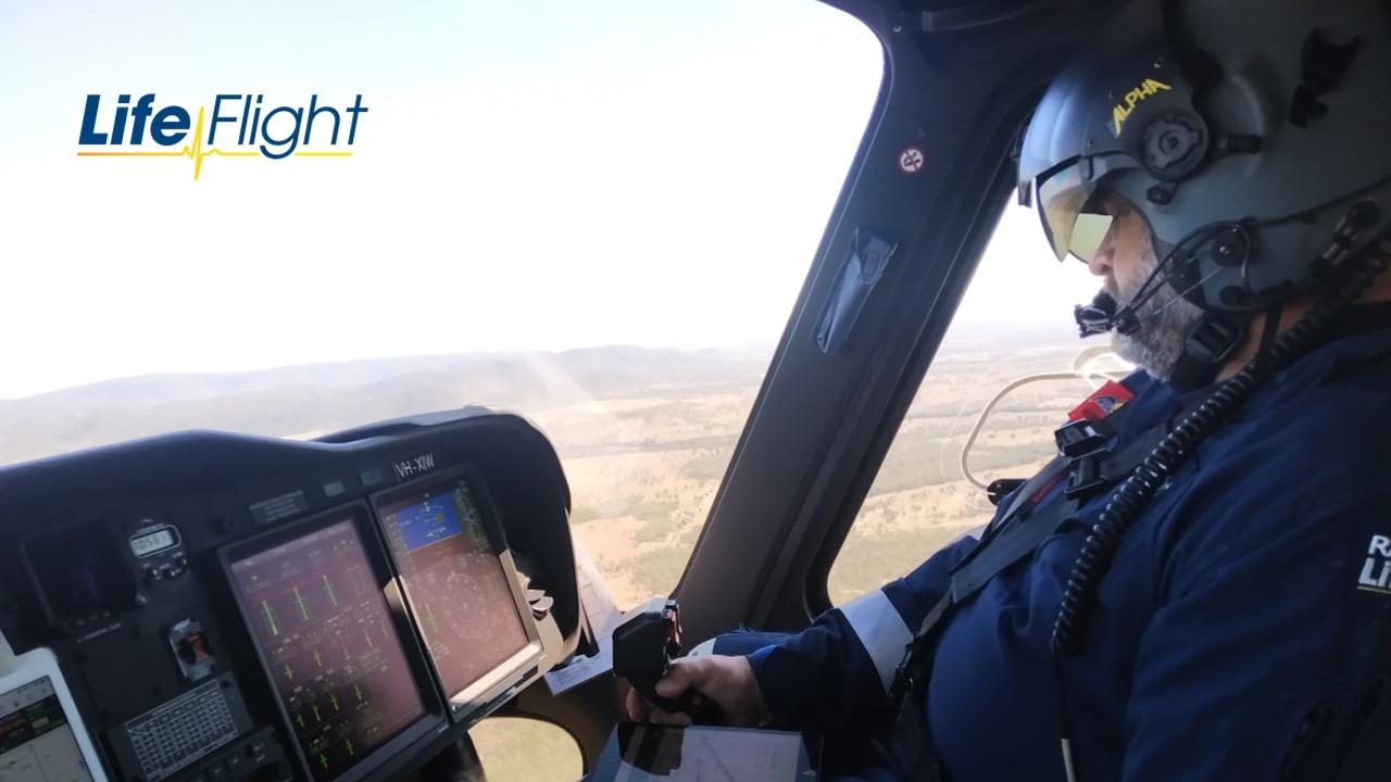 Photos taken from a rescue on Mt Walsh on August 24. Picture: RACQ LifeFlight