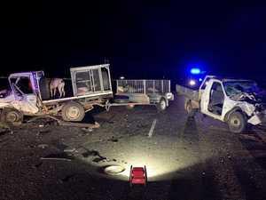 HORROR SCENE: Photo shows shocking damage of two car pile up