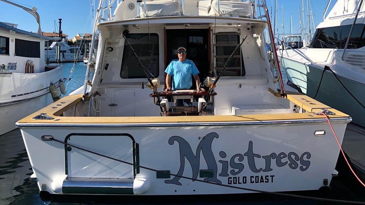 Brett Alty on his boat, Mistress. Photo: contributed