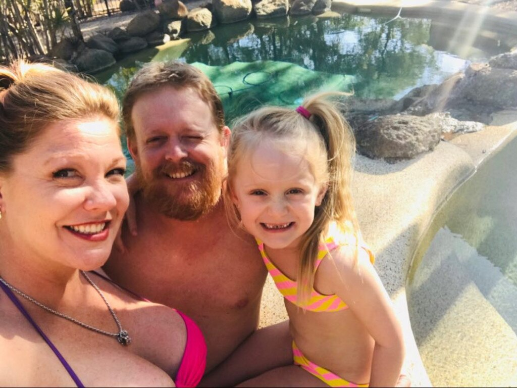 NEW HOME: American Tiffany Fleming has taken to the Australian lifestyle with her Aussie partner Dale Graff and his daughter Amelia in Central Queensland.