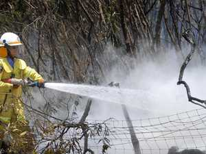 Fire crews working to contain Blackbutt grass fire