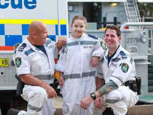 Breave young cancer fighter battles baddies with cops