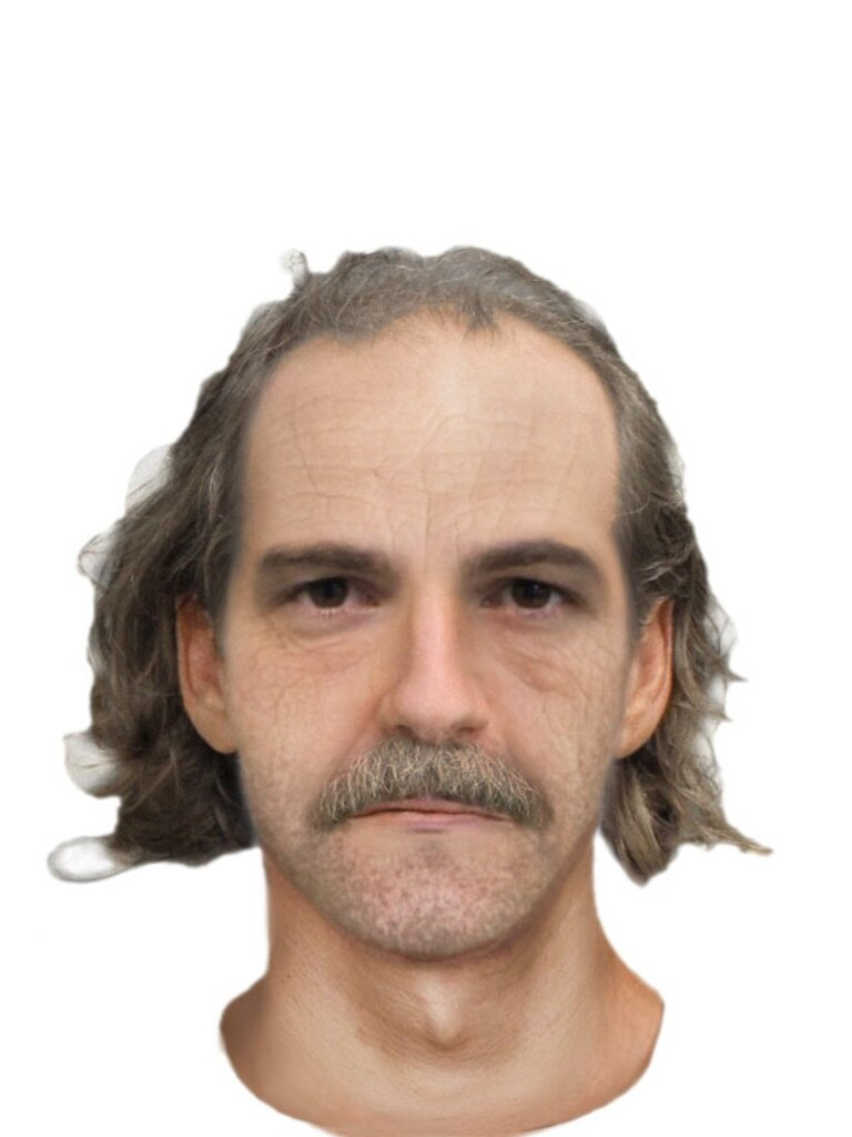 The police identikit of the killer has been updated to what he might look like in 2020.