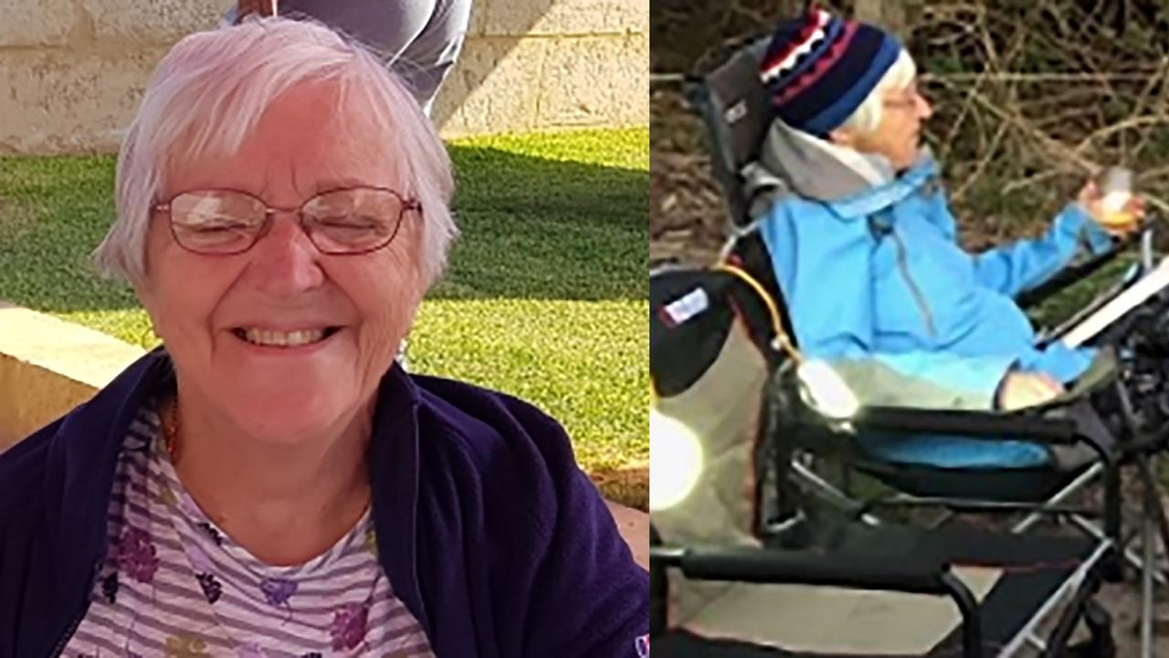 Police have released these images of Annmarie Jeffery, aged 73, who went missing from a campground north of Brooms Head on Tuesday.