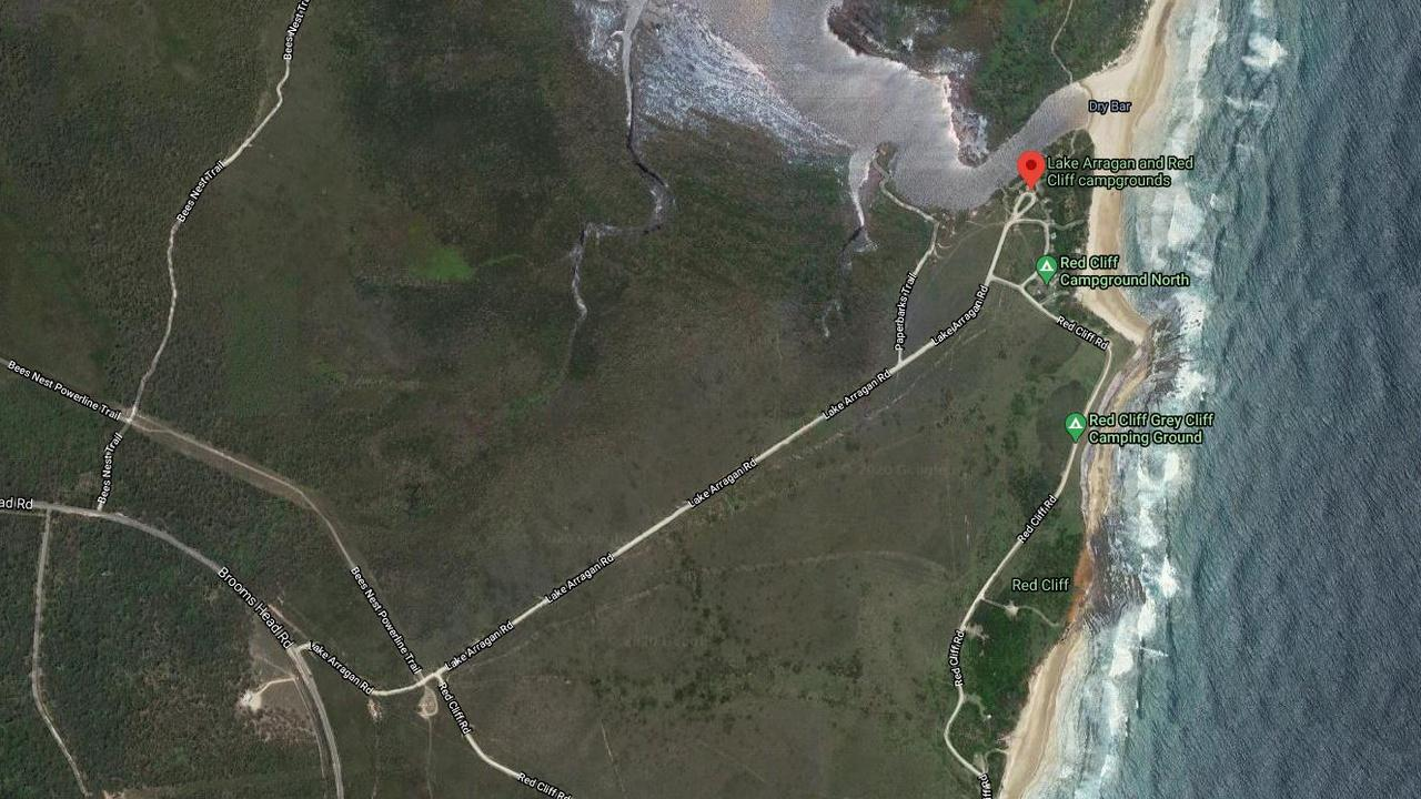 A Google Map of the Lake Arragan camping area