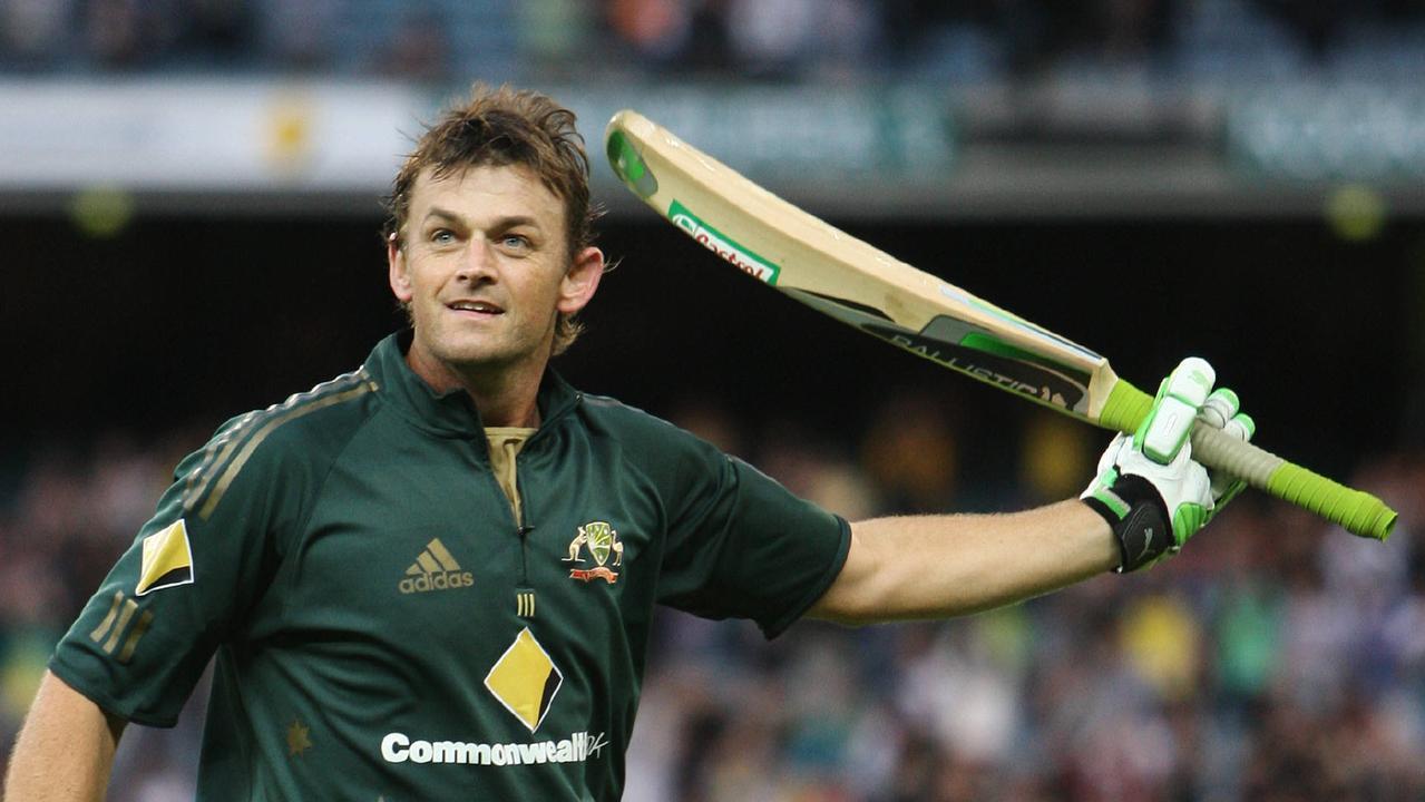 Australia v Sri Lanka. MCG. Adam Gilchrist walks off the MCG for the last time after smashing 83.
