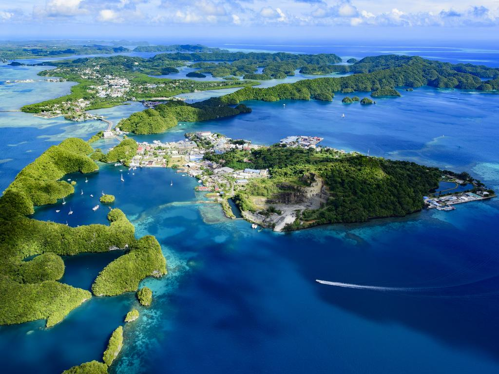 Palau Malakal Island and Koror has not reported one case of coronavirus after closing its borders. Picture: iStock
