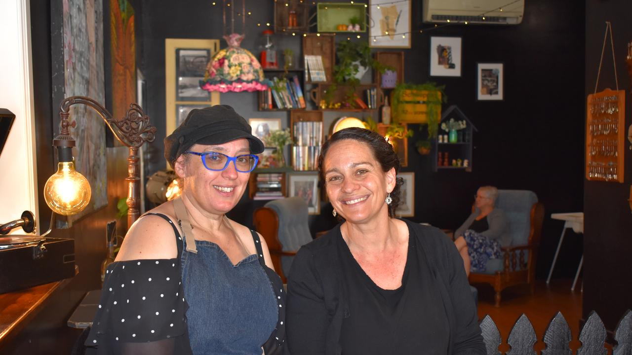 SISTER ACT: Oodies Cafe co-owners and sisters Jenny Haack and Suzy Evans, after their cafe with character was voted the best in Bundy for the second time, by NewsMail readers. Picture: Rhylea Millar.