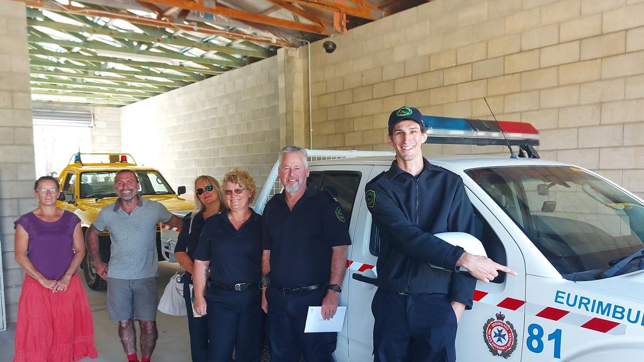 Chris Noakes, Jason Morris – First Officer, Sharon Morris – Secretary, Annie Clark – Treasurer, Sean Small, Jolita Burneikis – Chairperson at the establishment of the new Eurimbula Rural Fire Brigade.