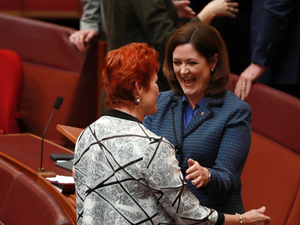 Pauline Hanson with Senator Henderson. Picture: Gary Ramage