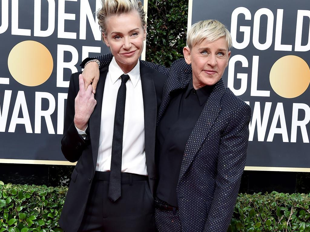 Ellen DeGeneres with her wife Portia de Rossi. Picture: Axelle/Bauer-Griffin/FilmMagic