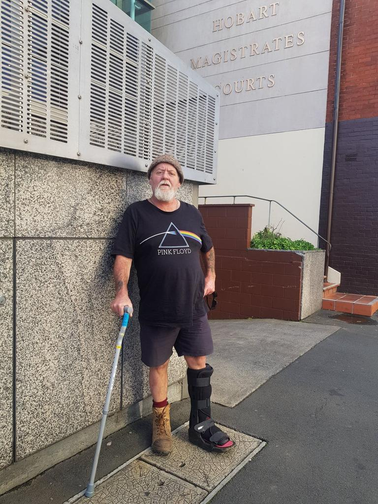 Scott Moore outside Hobart Magistrates Court after his win on Tuesday. Picture: Amber Wilson