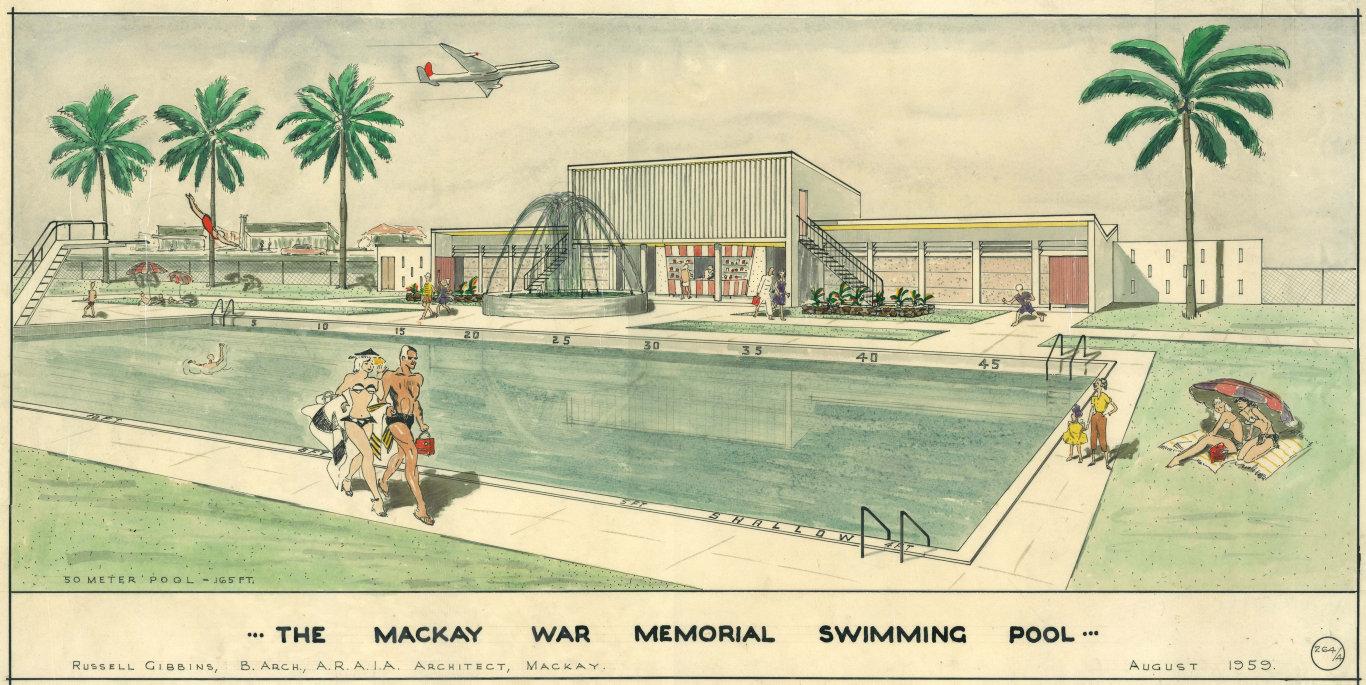 The Mackay Memorial Swimming Pool artist impression.