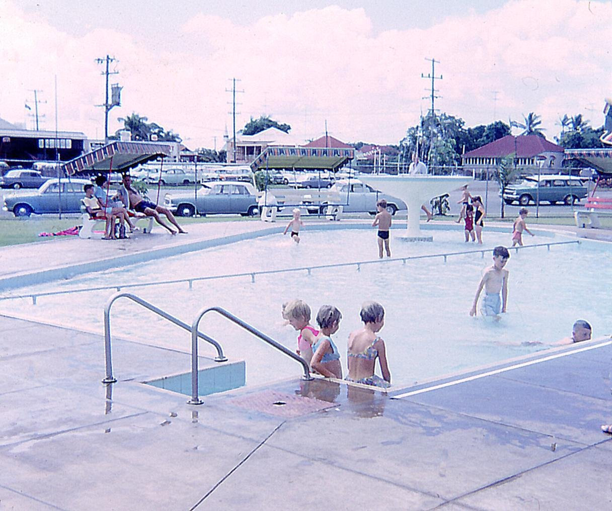1963: Opening of the Mackay War Memorial Swimming Pool in Milton Street. Built at a cost of 90,000 pounds. Opened by Postmaster-General COW.. Davidson. Family fun at the Memorial Swimming Pool.PhotoContributed