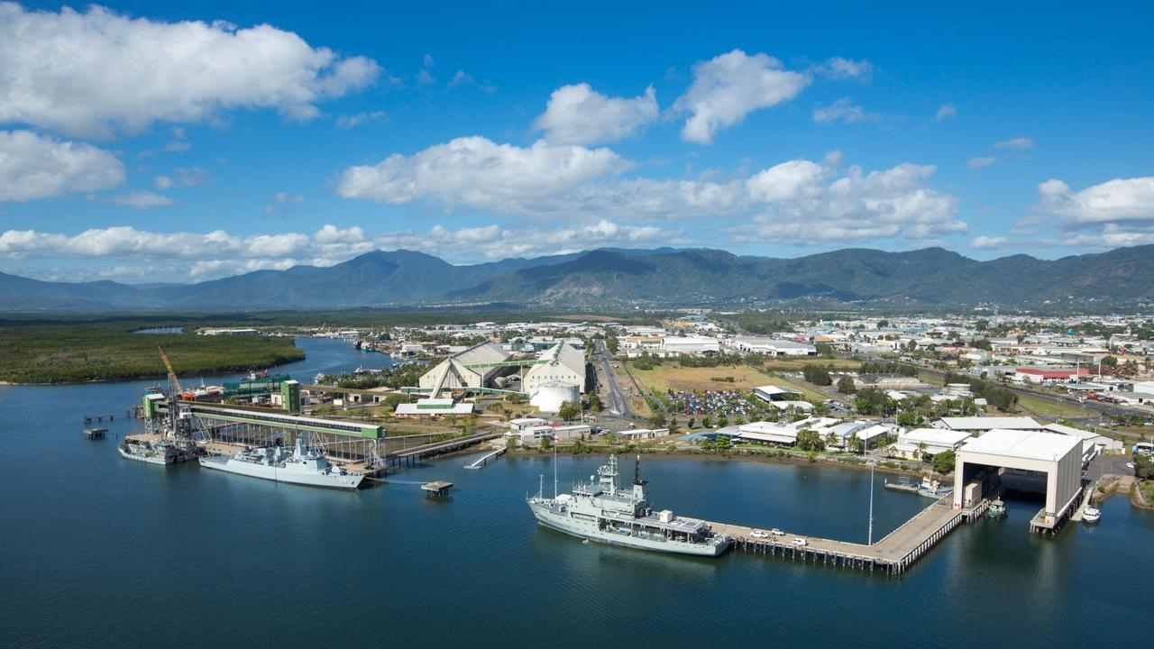 HMAS Cairns is undergoing its own masterplanning process with considerable expansion on the cards over the coming decade and beyond. The Port of Cairns is undergoing a long-term masterplanning process to help determine its development and use over the coming decades. PICTURE: PORTS NORTH