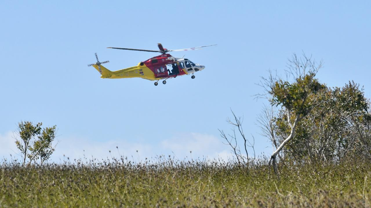 Police rescue was joined by SES volunteers and the Westpac rescue helicopter in the second day of a search for a missing 73-year-old woman from Lake Arragan campgrounds. Photos: Adam Hourigan