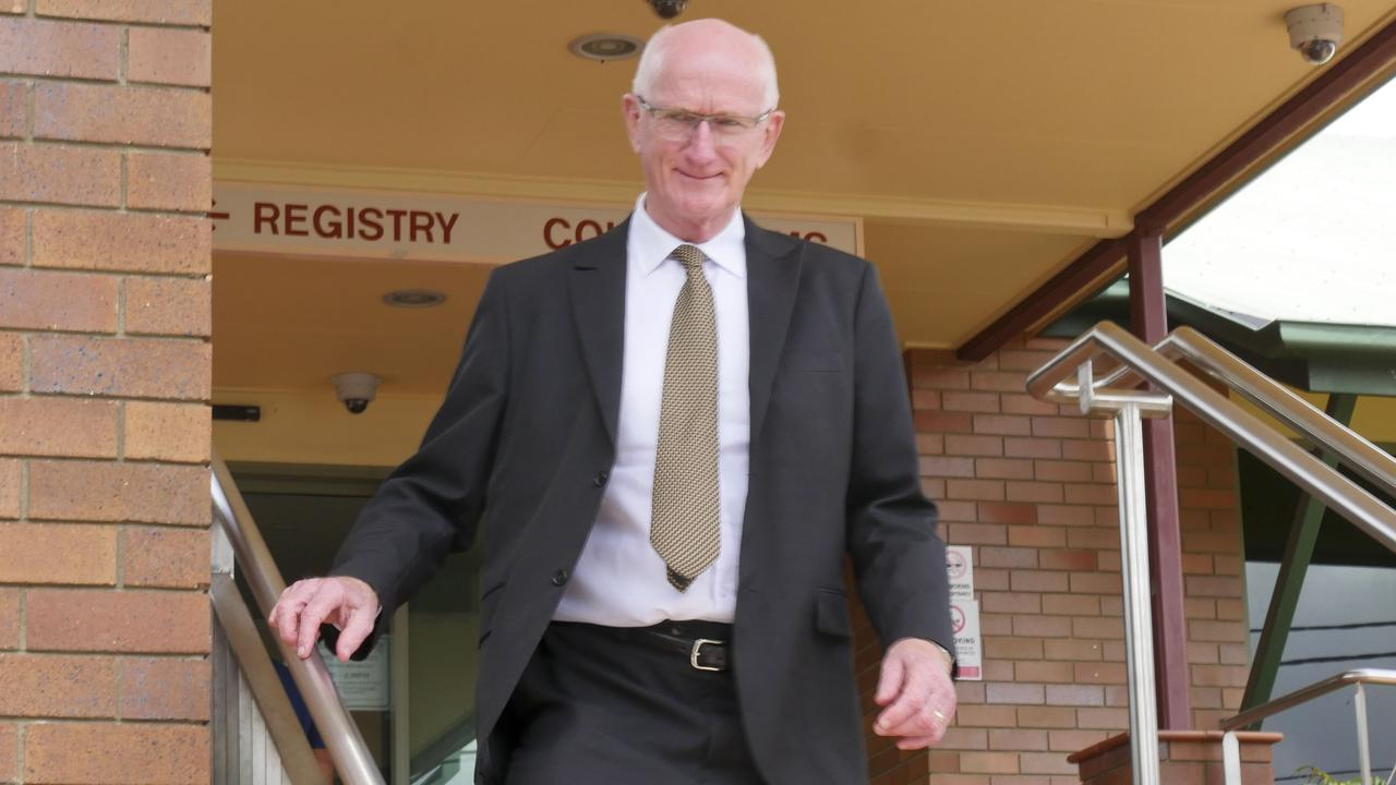 Former Fraser Coast mayor Chris Loft leaving the Hervey Bay court house during day 1 of his trial