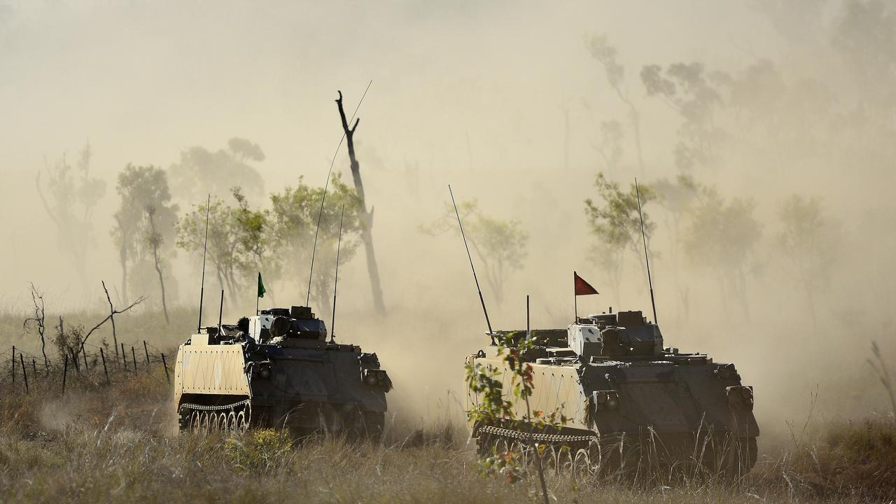 Townsville's 3rd brigade have taken part in a culminating simulated war fighting activity following a month's worth of smaller training activities, held as part of Exercise Brolga Run. PICTURE: MATT TAYLOR.