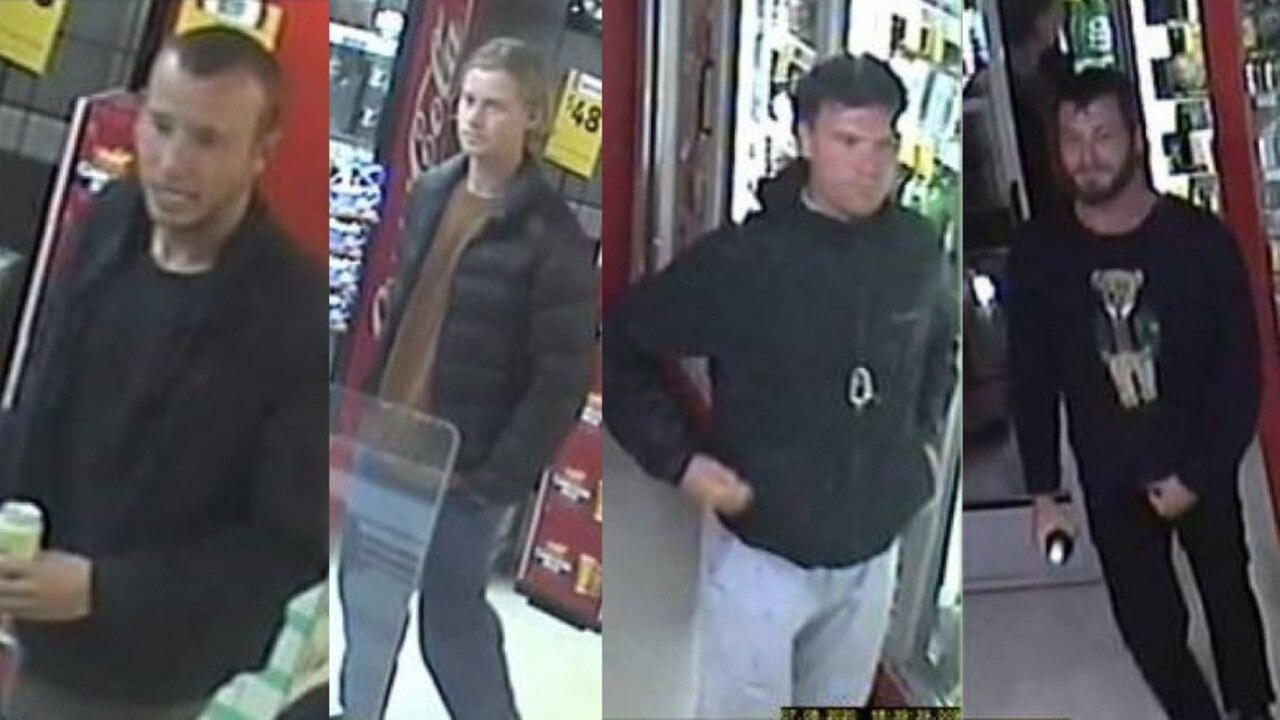 Police believe these four men may be able to assist officers with the investigation into a recent theft at a Noosa bottle shop.