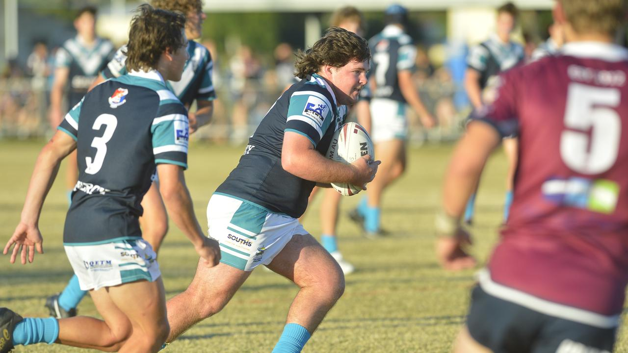 Mercy College defeated Mackay State High School 18-6 in the final round of the Cowboys Challenge. Photo: Callum Dick