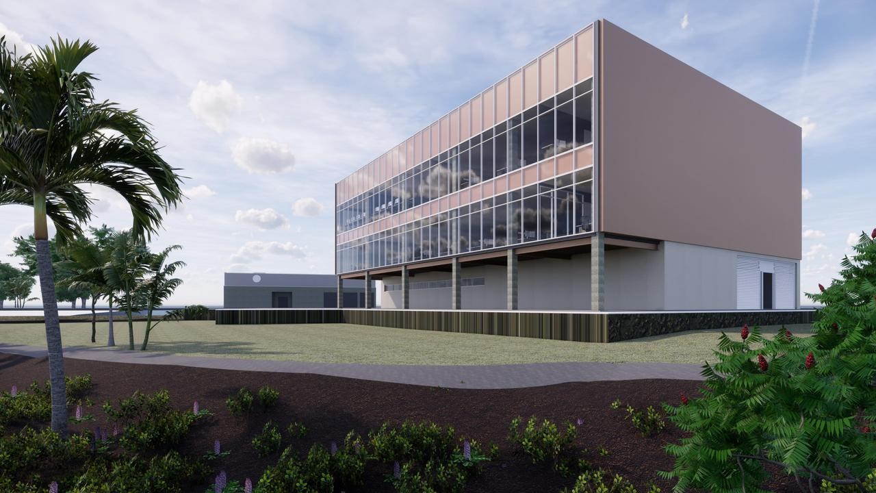 Artist impressions of the major redevelopment of the HMAS Cairns naval base has been revealed including a new wharf, dredging, an office and accommodation building to support Arafura Class Offshore Patrol Vessel crew and a new explosive ordnance facility. PICTURE: SUPPLIED