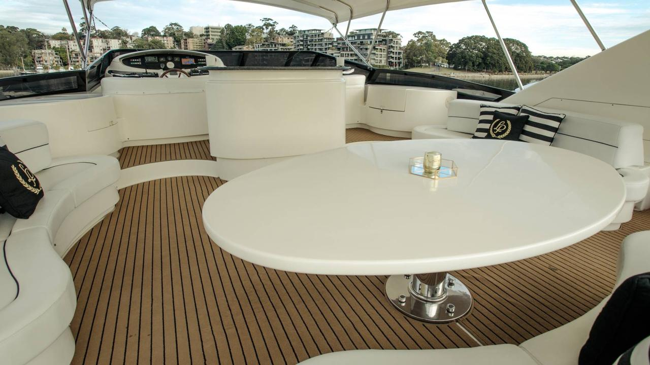 The Lady Pamela superyacht has luxury finishes and a sumptuous menu of platters for guests aboard.