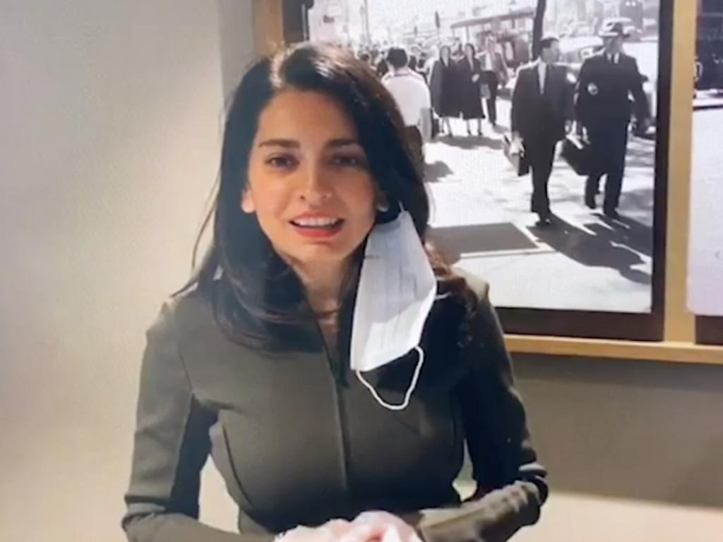 Global Victoria CEO Gonul Serbest in a screengrab from a video celebrating the success of the now botched hotel quarantine.
