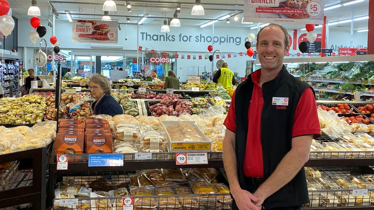 Coles Alstonville manager Robert Grentree welcomed customers to the new-look store.
