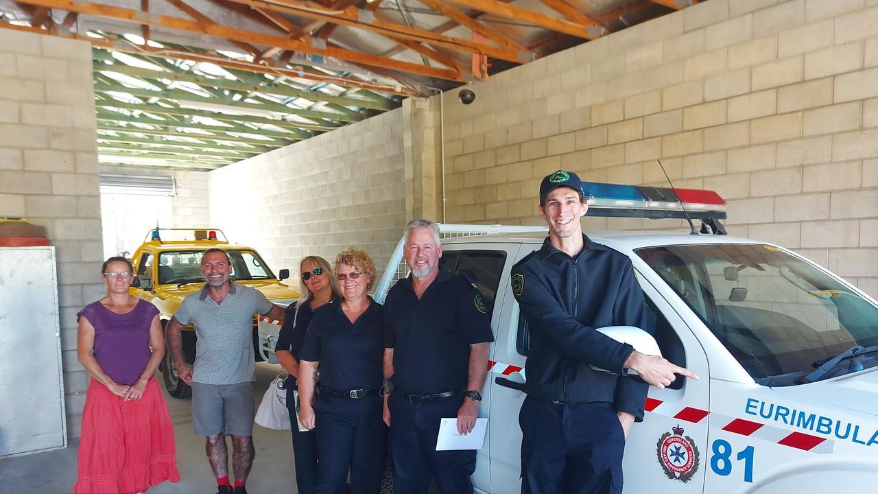 Chris Noakes, Jason Morris - First Officer, Sharon Morris - Secretary,Annie Clark - Treasurer, Sean Small, Jolita Burneikis - Chairperson at the establishment of the new Eurimbula Rural Fire Brigade.