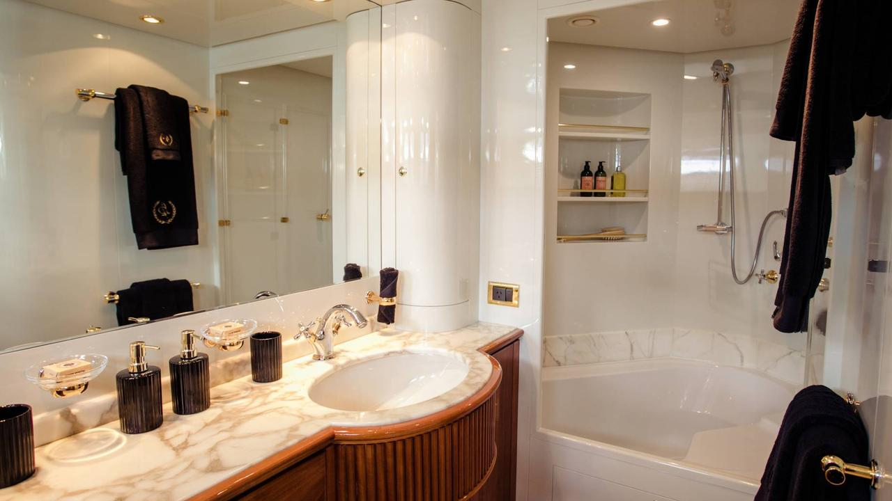 Each bedroom has its own ensuite and offers high-end toiletries and fresh towels.