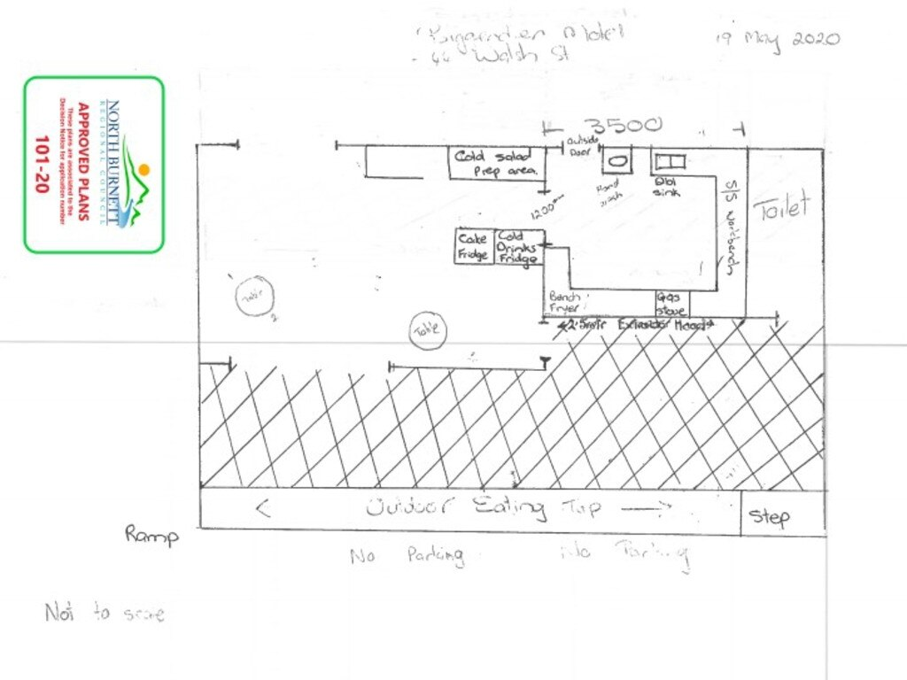 Plans for The Bluff's View Cafe at the Biggenden Motel. Picture: NBRC