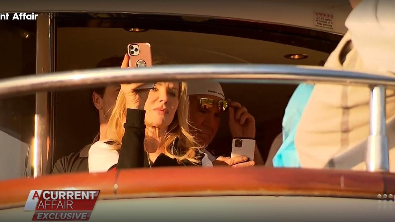 Cheryl Simonds aboard the Lady Pamela on its luxury voyage from Victoria to Queensland. Picture: Channel 9/ACA
